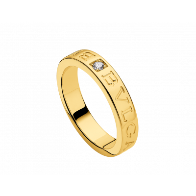 BVLGARI BVLGARI 18 kt yellow gold ring set with a diamond