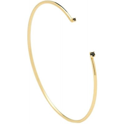 BRACCIALE BLACK BLOOM GOLD
