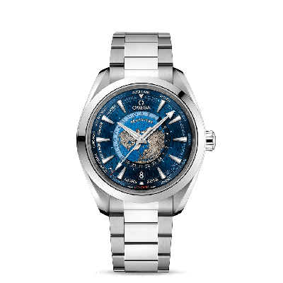 seamaster  Seamaster AQUA TERRA 150M OMEGA CO‑AXIAL MASTER CHRONOMETER GMT WORLDTIMER 43 MM