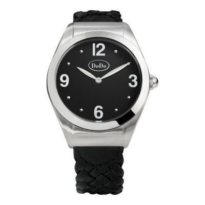 DODO BLACK AND STEEL WATCH. Acciaio.