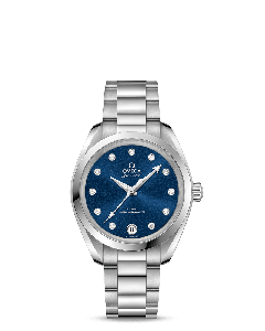 AQUA TERRA 150M OMEGA CO‑AXIAL MASTER CHRONOMETER 34 MM BLU/BRILL