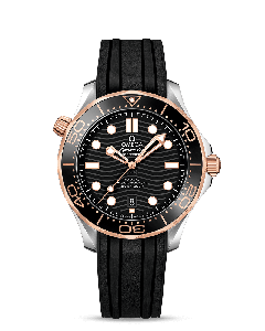 DIVER 300M OMEGA CO‑AXIAL MASTER CHRONOMETER 42 MM CAUCCIU'/ACC/GOLD