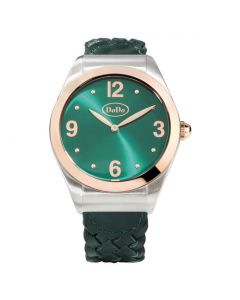 DODO PARADISE GREEN WATCH. Acciaio, PVD color oro rosa.