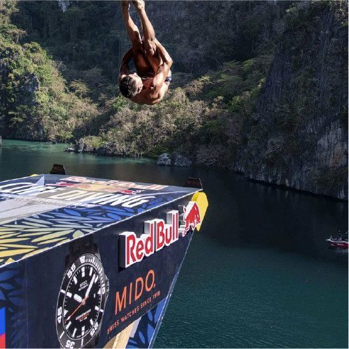 MIDO X RED BULL CLIFF DIVING